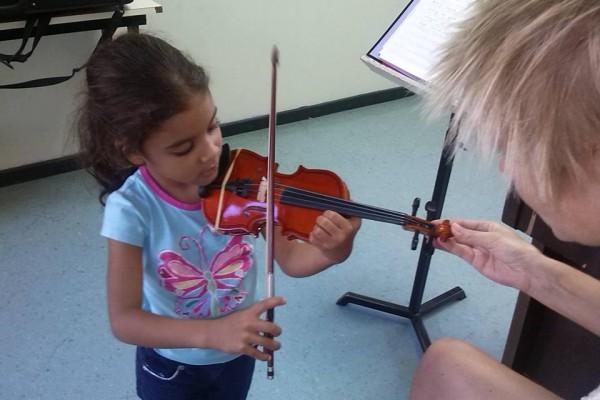 vioolles kleuters en kleine kinderen